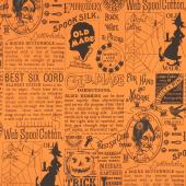 Old Made - Text Orange Yardage