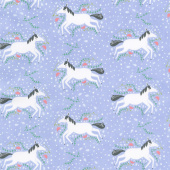Enchanted - Unicorns Galore Lavender Yardage