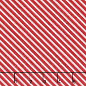 Vintage Holiday - Bias Candy Stripe Red Flannel Yardage