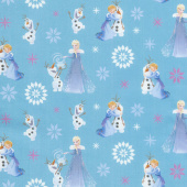 Disney Olaf's Frozen Adventure - Winter Wonderland in Teal Yardage