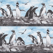 Magdalena - Penguin Stripe Multi Yardage