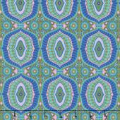 Night Music - Temple Tiles Celadon Yardage
