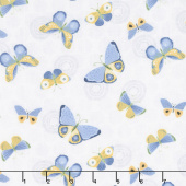 Sing Your Song - Butterflies White Yardage