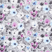 Awakenings - Large Floral Gray Yardage
