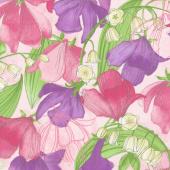 Sweet Pea & Lily - Sweet Peas Primrose Yardage
