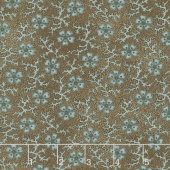 Shadows and Sunshine - Coral Flower Brown Yardage