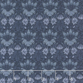 May Morris Studio - Tulip 1900 Indigo Yardage