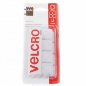 "Velcro Sticky Back 7/8"" Squares White"