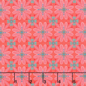 Wildflower Boutique - Mosaic Coral Yardage