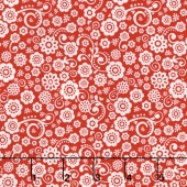 Happy Day - Happy Floral Red Yardage