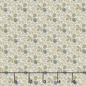 Concrete - Viney Floral Tan Yardage