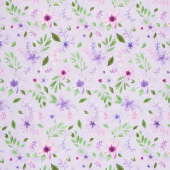 Amethyst Magic - Medium Floral Purple Yardage