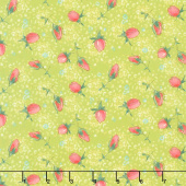 Abby Rose - Rose Buds Greenery Yardage