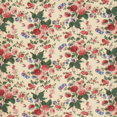 "Full Circle - Cream Floral 60"" Wide Backing"