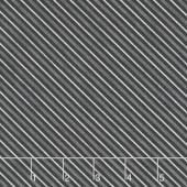 Haunted Night - Diagonal Stripe Black Yardage