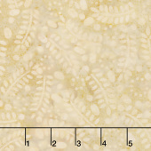 Ivy League Batiks - Leaves and Circles Tan Yardage