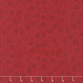 Wilmington Essentials - Red Carpet Dancing Buds Red on Red Yardage