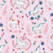 My Unicorn - Garden Pink with Sparkle Yardage