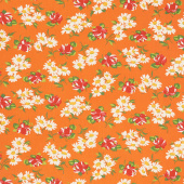 It's Elementary - Garden Blooms Orange Yardage