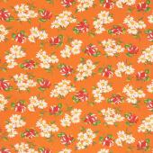 It's Elementary - Garden Blooms Orange Yardage