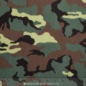 "Cuddle Prints - Rambo Camoflage Army 60"" Minky Yardage"