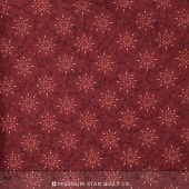 "Prairie Vine - Red 108"" Wide Backing"