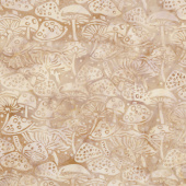 Seedlings Batiks - Mushrooms Toast Yardage