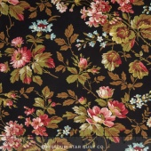 Garden Gate - Floral Wrought Iron Yardage