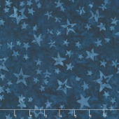 Tonga Batiks - Freedom Blue Stars of All Sizes Yardage