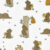 "Cuddle Prints - Very Beary Banana 60"" Minky Yardage"