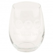 Love What You Do Stemless Wine/Barrel Glass