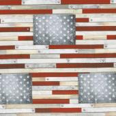 Farmhouse - Flag Americana Digitally Printed Yardage