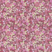 Garden Delights ll - Morning Glory Burgundy Yardage