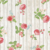 Farmhouse Rose - Wood Ivory Yardage