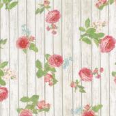 Farmhouse Rose - Wood Ivory Yardage