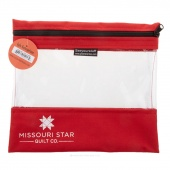 "Missouri Star's SEEYOURSTUFF Bag 10"" x 11"" - Red"