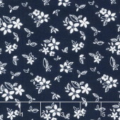 Something Borrowed - Floral Navy Yardage