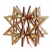 3D Missouri Star Ornament