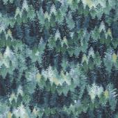 Woodland Wonders - Tree Texture Spruce Yardage