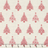Scandi 5 - Trees Cream Red Yardage