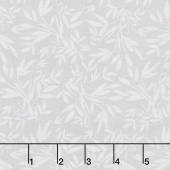 Blooms and Bobbins - Leaves Gray Yardage