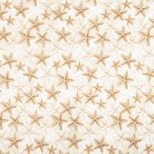 Welcome to the Beach - Starfish on Sand Natural Yardage