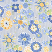 Sing Your Song - Packed Floral Gray Yardage