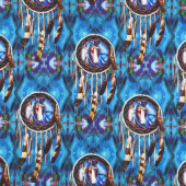 Painted Horses - Dreamcatcher Teal Yardage