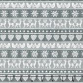 Scandi 5 - Border Stripe Gray Yardage