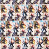 Marvel - Avengers Captain America Multi Digitally Printed Yardage