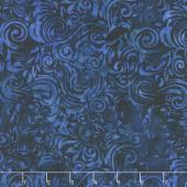 Blue Skies Batiks - Scrolls Scuba Yardage