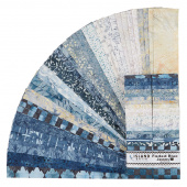 Faded Blue Jeans Batiks Strips