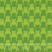 Kitty Kitty - Tonal Cat Green Yardage