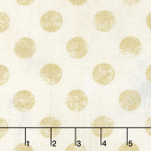 Grunge Hits the Spot - Crème Metallic Yardage